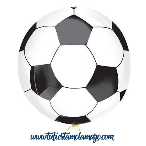 Globo de foil de balón de fútbol Redondo