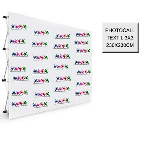 Photocall Textil 3x3 - 230X230 cm.