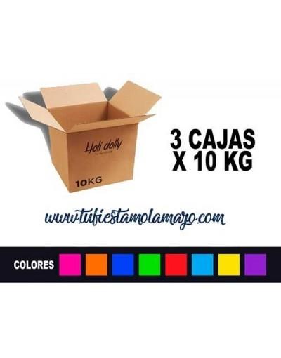 Polvo Holi (3 cajas X 10KG)