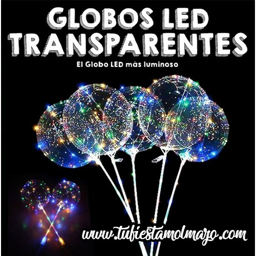 Globos LED transparentes