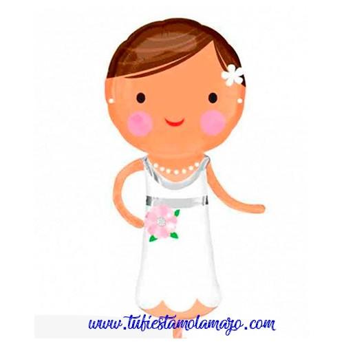 Globo foil boda de novia simpática
