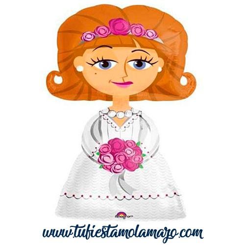 Globo foil boda de novia