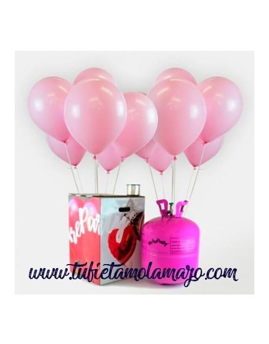 Helio globos rosa baby