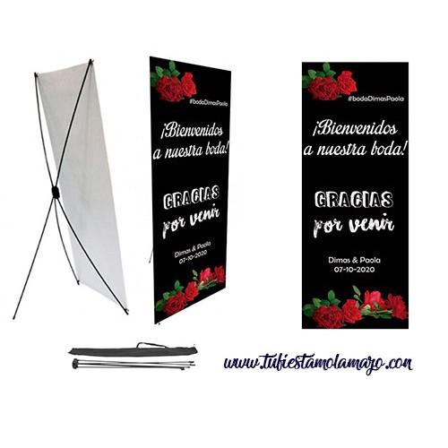 Photocall boda de Bienvenida 80 x 200 cm.