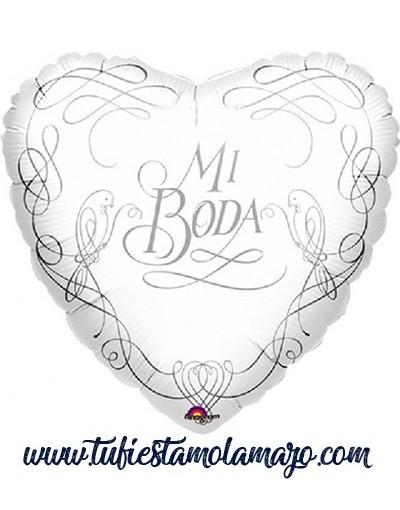 """Globo de corazón """"Mi boda"""""""