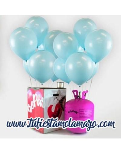 Helio globos azul baby