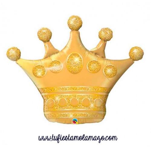 Globo foil de Corona dorada 104 cm.