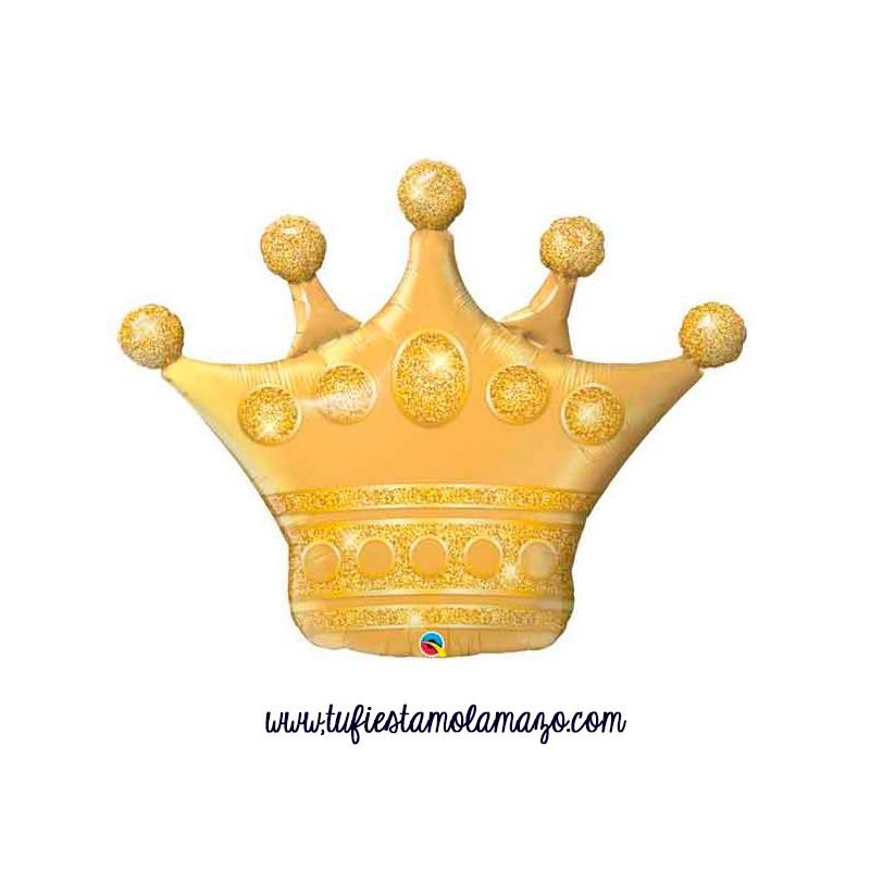 Globo foil corona dorado