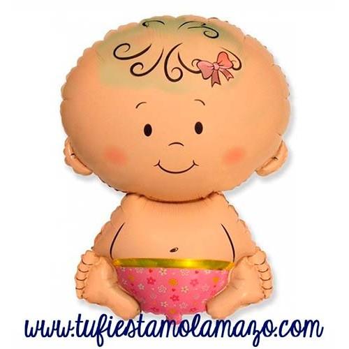 Globo de foil bebe rosa 67 cm.