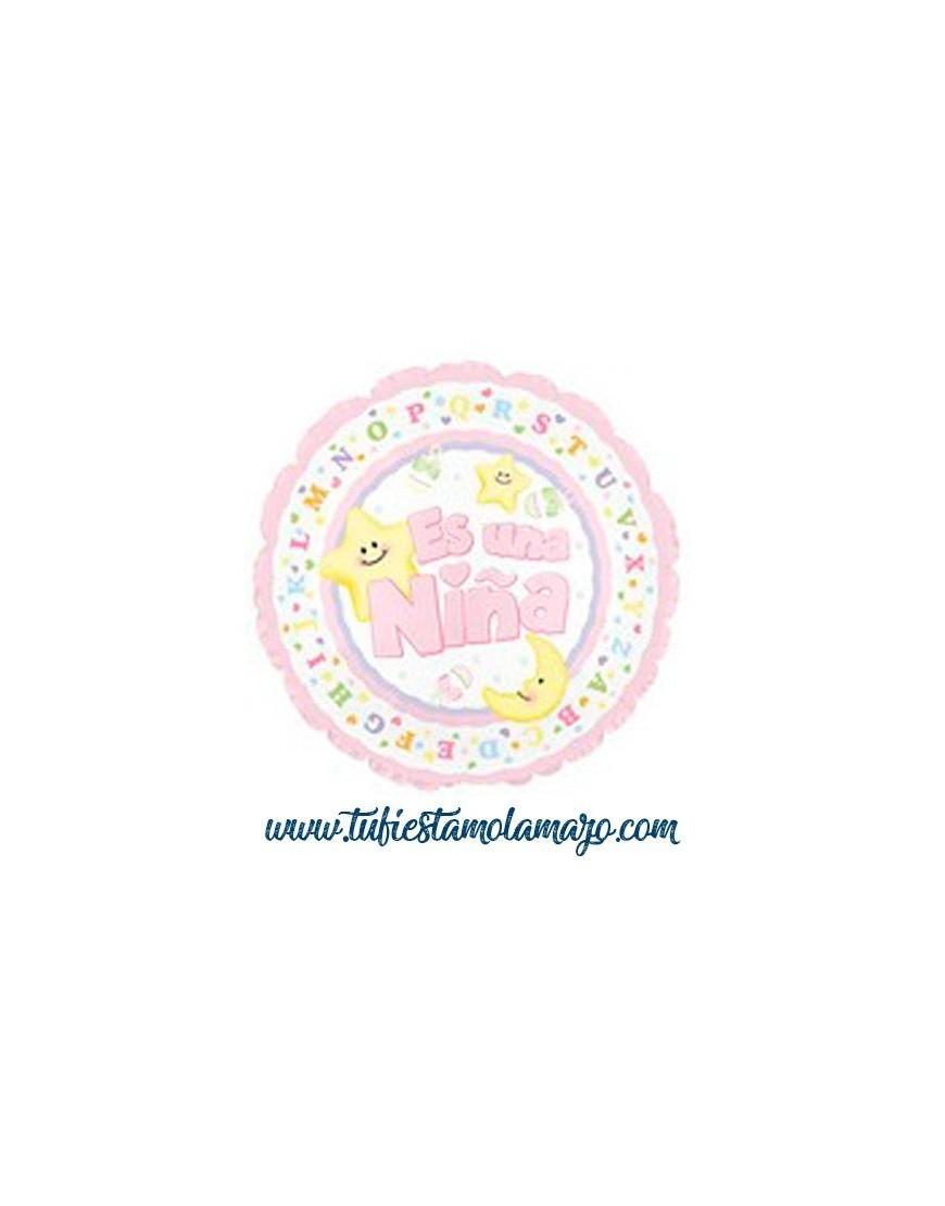 Globo foil bebe rosa