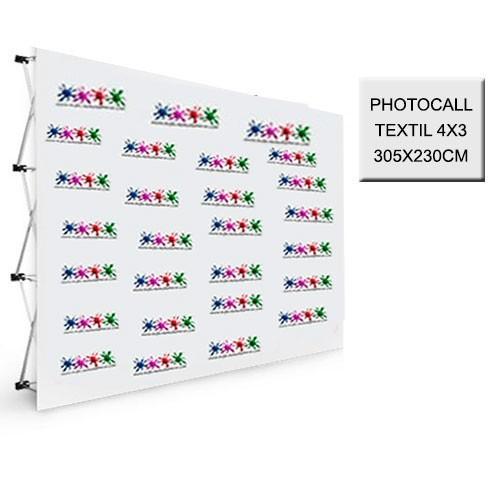 Photocall Textil 4x3 - 305X230 cm.