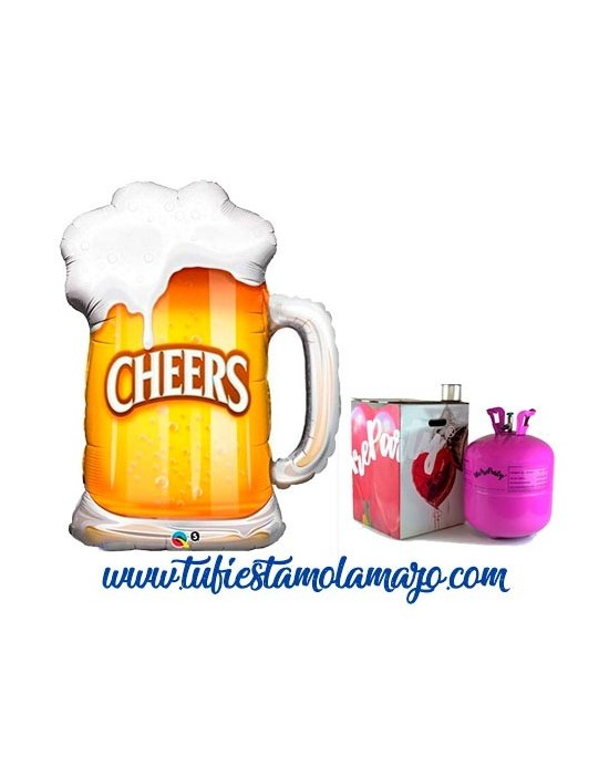 Pack de Helio con Globo de Cerveza