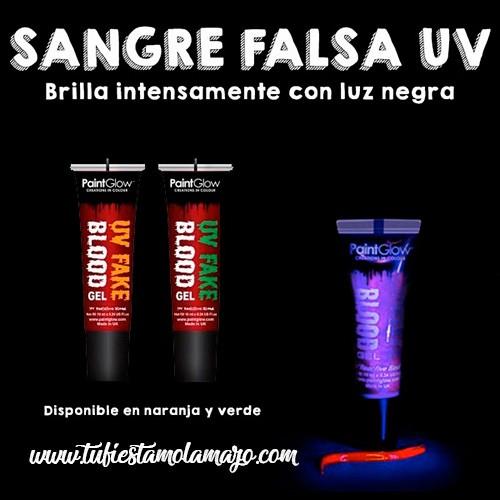 Pintura Sangre falsa UV