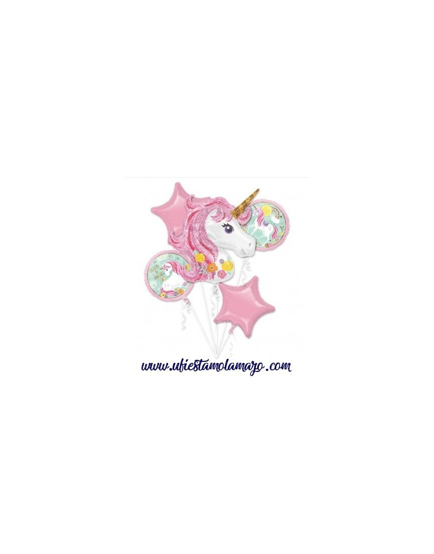 Bouquet 5 Globos Foil DECO de Unicornios Anagram