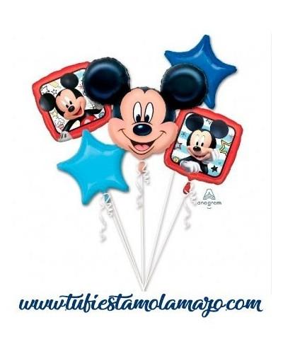 Bouquet 5 Globos Foil DECO de Mickey