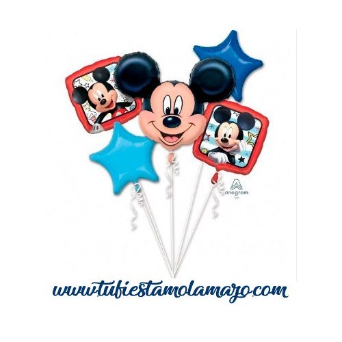 Bouquet 5 Globos Foil DECO de Mickey Anagram