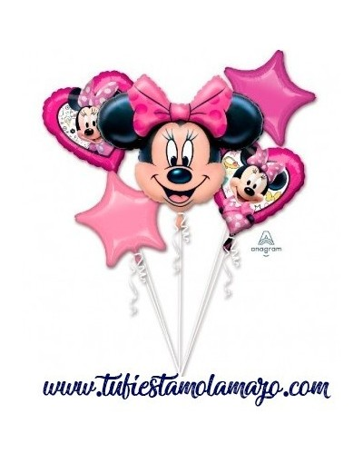 Bouquet 5 Globos Foil DECO de Minnie Anagram®