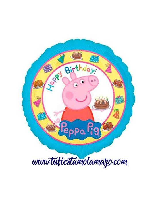 Globo redondo foil Peppa Pig