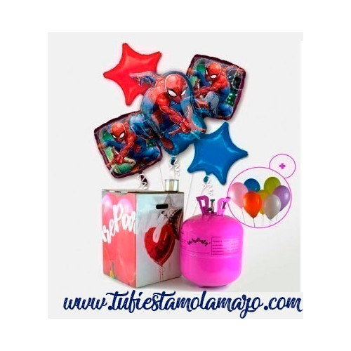 Pack Helio Maxi Globos de Spiderman