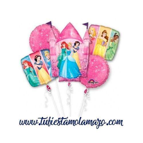 Bouquet 5 Globos Foil DECO de Princesas Disney Anagram®