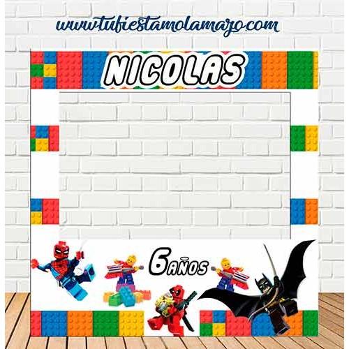 Marco de Polaroid infantil de Lego
