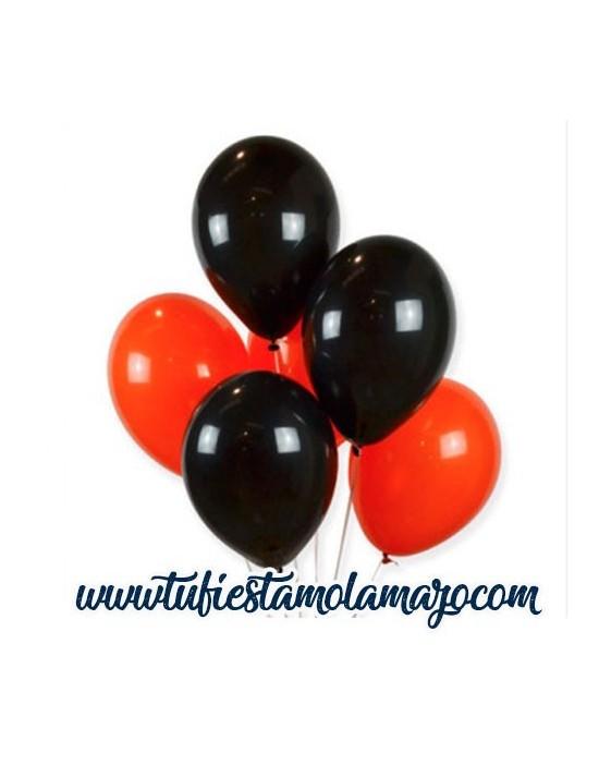 Globos Negros&Naranja Halloween