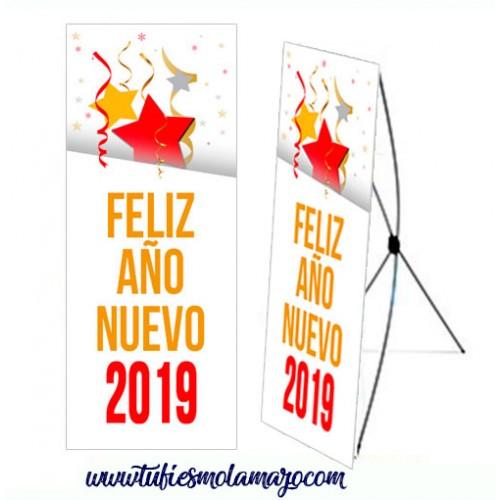 Photocall Año Nuevo Dorado y Rojo
