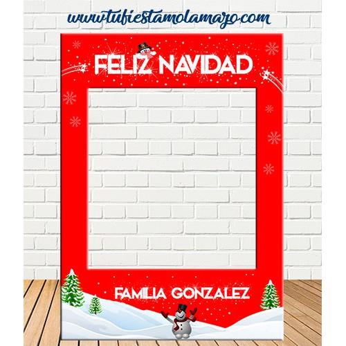 Marco Navidad Rojo