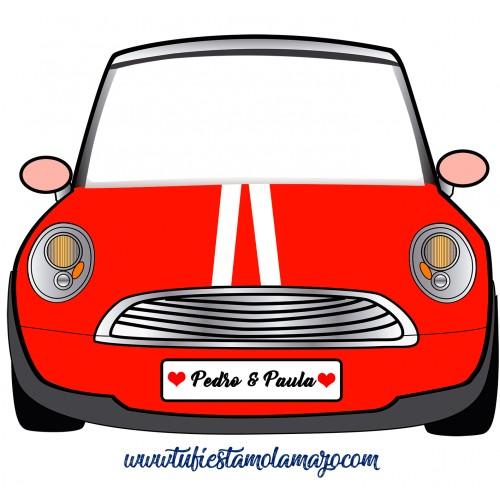Photocall de coche mini Cartón