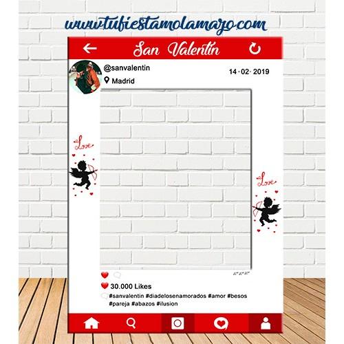 Photocall de San Valentin de Cartón Personalizado