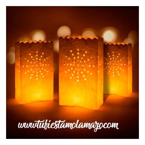 Bolsas Luz con velas (10 u.)