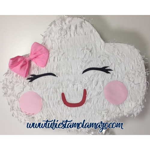 Piñata de Nube Blanco