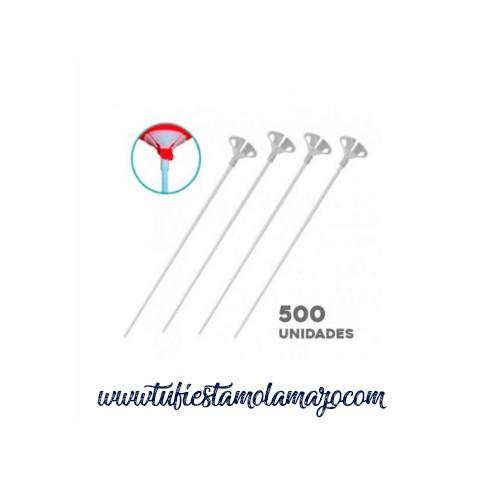 Pack de 500 Varillas para globos Blanco de 40 cm