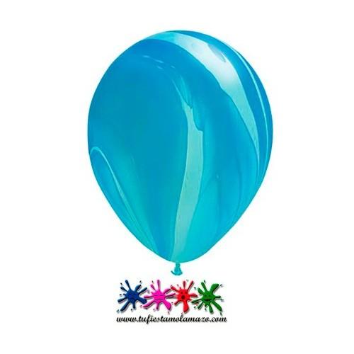 25 x Globo de látex azul pintado