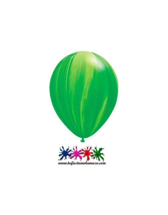 25 x Globo de látex verde pintado