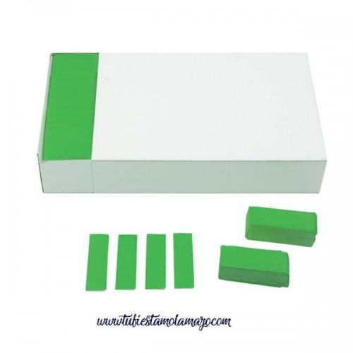 Confeti Rectangular Papel de 2x5 CM. Tacos 1Kg