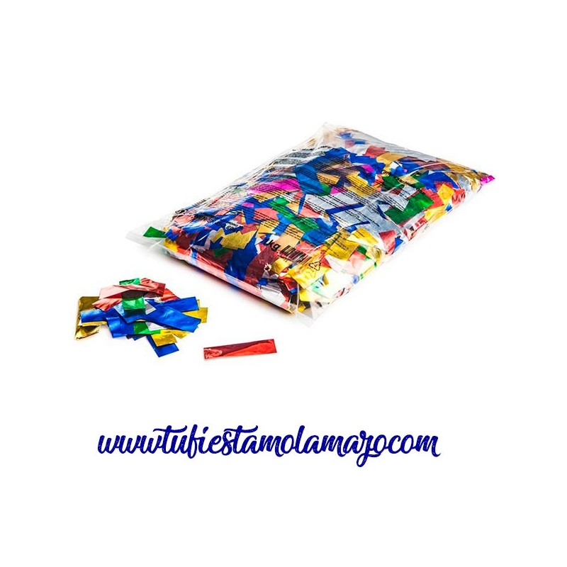 Confeti personalizado metalizado rectangular