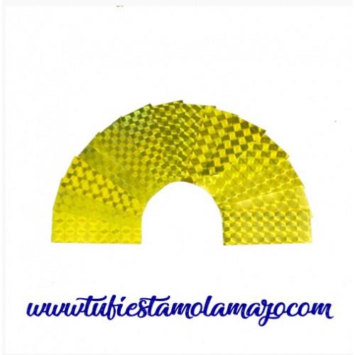 Confeti rectangular reflectante de 2x5 cm de 1Kg