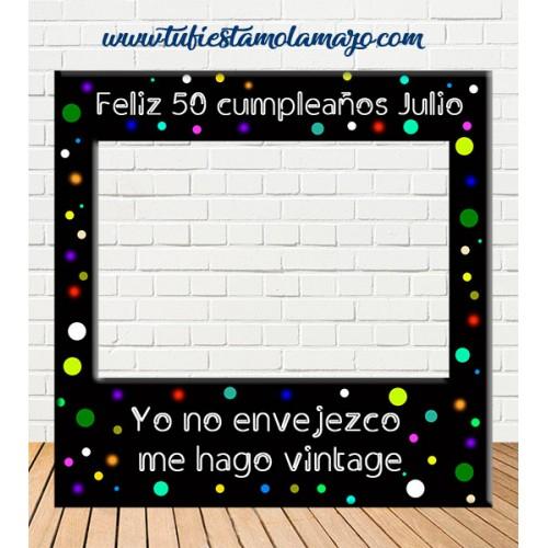 Photocall de marco de Cumpleaños Colores