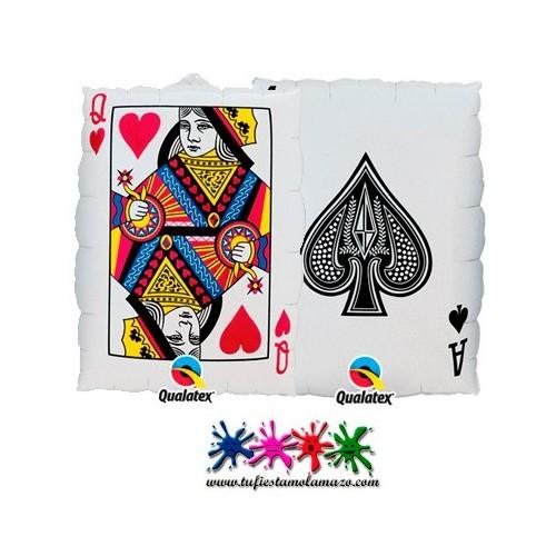 Globo foil Carta de póquer 76cm