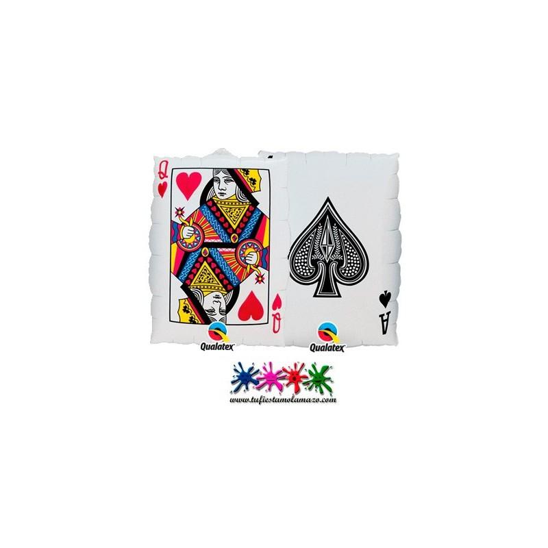 Globo de foil de carta de póquer 76cm