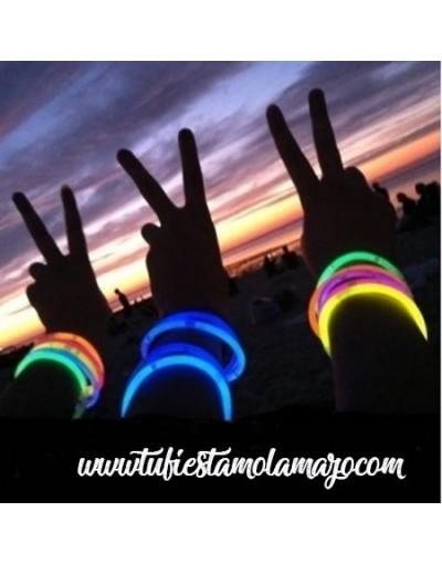 Pulseras luminosas de regaliz