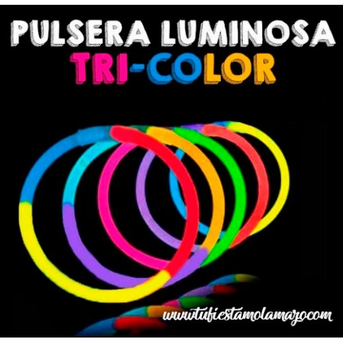 Pulseras Luminosas Tri-Color