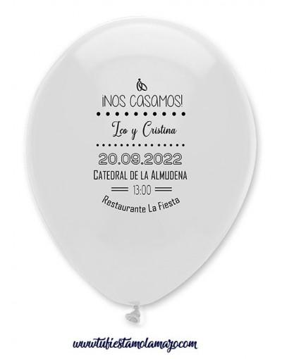 Pack 100 Globos Invitaciones Boda 1