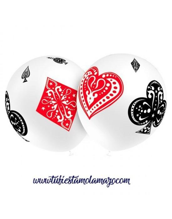 Globo de látex de poker